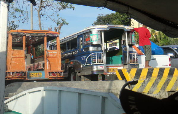 Jeepneys waiting at Parola Dock in Iloilo