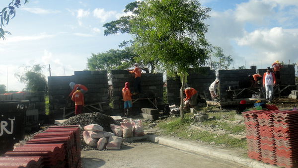 New wall construction at Savannah Subdivision, Iloilo