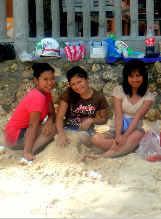 Visitors to Raymen Beach in Guimaras