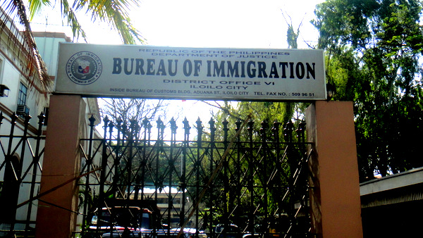 Bureau of Immigration entrance in Iloilo