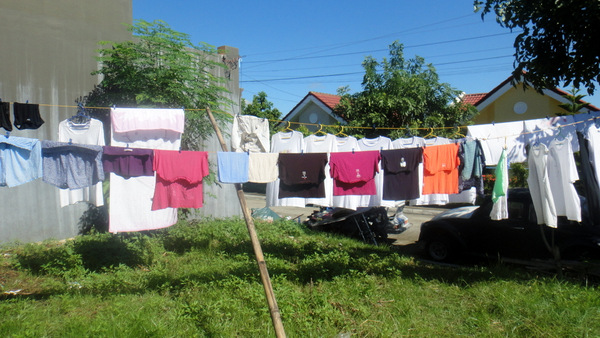 Laundry day in the Philippines
