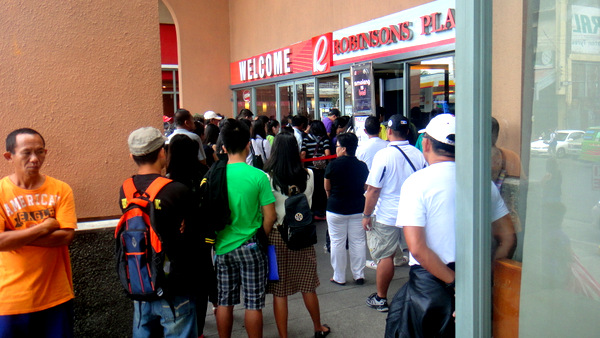 Waiting at Robinsons in Iloilo City