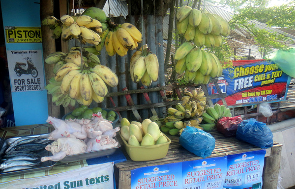 Bananas on sale at wet market in Iloilo