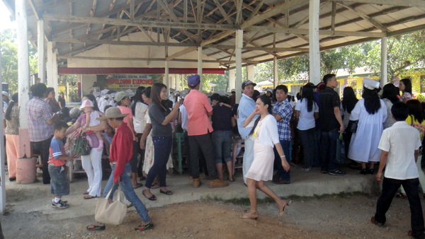 Crowd at gradution ceremony in Guimaras