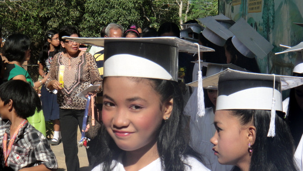 Den Den's 6th grade graduation in Guimaras