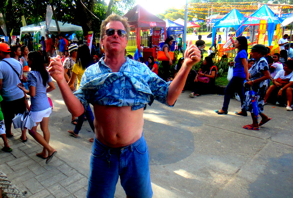 Fearless Frank from Florida at the Manggahan Festival