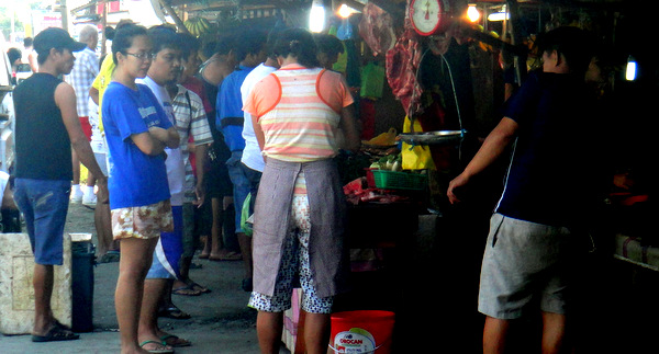 Local wet market in Iloilo