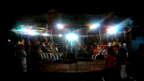 Merry go round at carnival in Guimaras