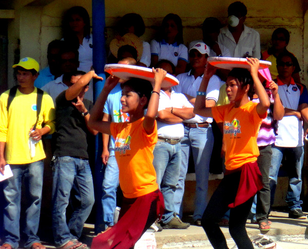 Pretty pinays dancing at Manggahan Festival in Guimaras
