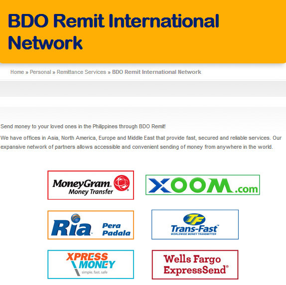BDO Remittance Services