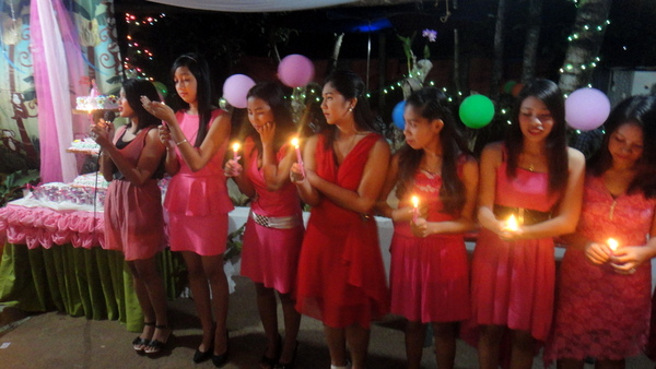 18 Candles at Debutante Party in the Philippines