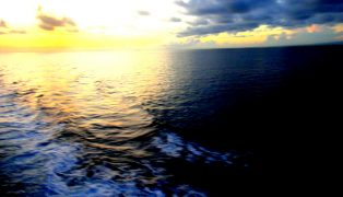 sunrise look from the ship on the way to Iloilo