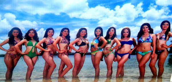swimsuit beauties at Manggahan Festival