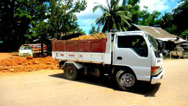 a load of dirt used in guimaras road construction