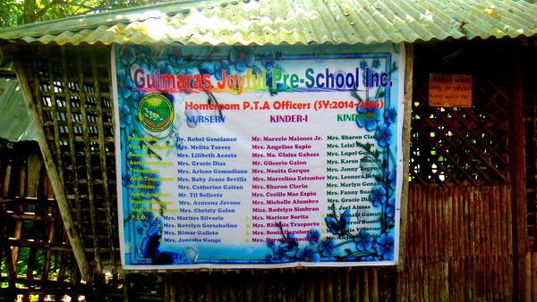 pta officers at guimaras joyful preschool