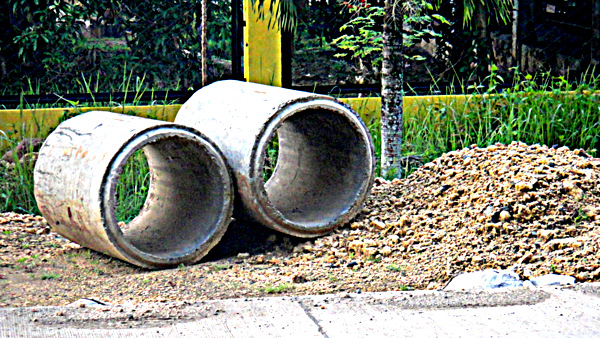storm sewer pipes being used in guimaras