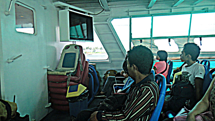 riding economy class in the supercat ferry to bacolod