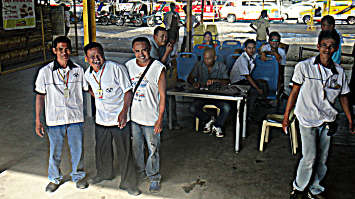 the friendly crew at the north terminal in bacolod city