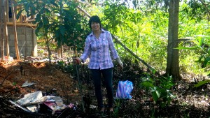 My lovely asawa at our new property site in the Philippines