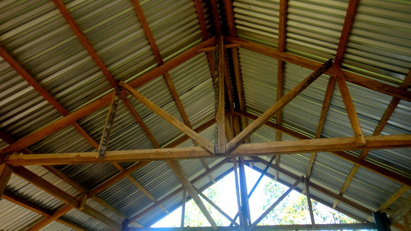 interior shot of the nipa hut