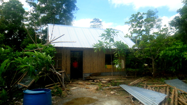 lolo's nipa hut in guimara, the philippines