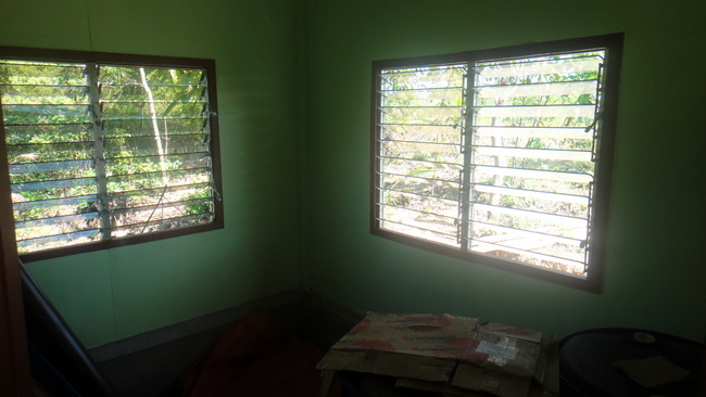 Lolo's new nipa hut bedroom