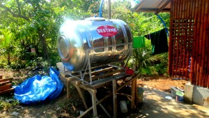 our new water tank in Guimaras