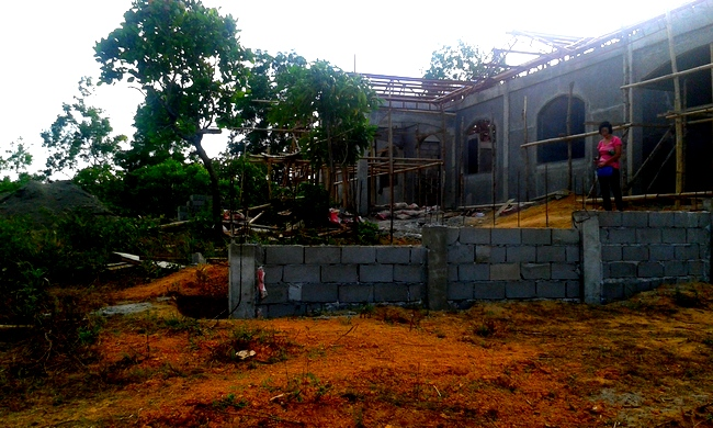 another view of the construction site in the Philippines