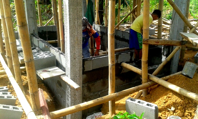 work continues on our new dirty kitchen in the Philippines