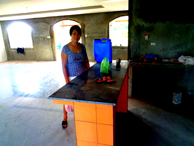 work on our  granite top in the Philippines continues