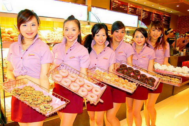 Donut girls in the Philippines