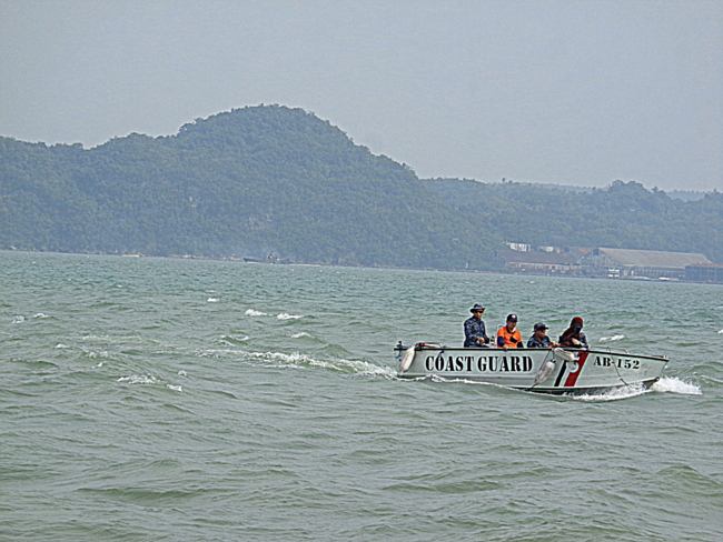 coast guard off jordan wharf in guimaras