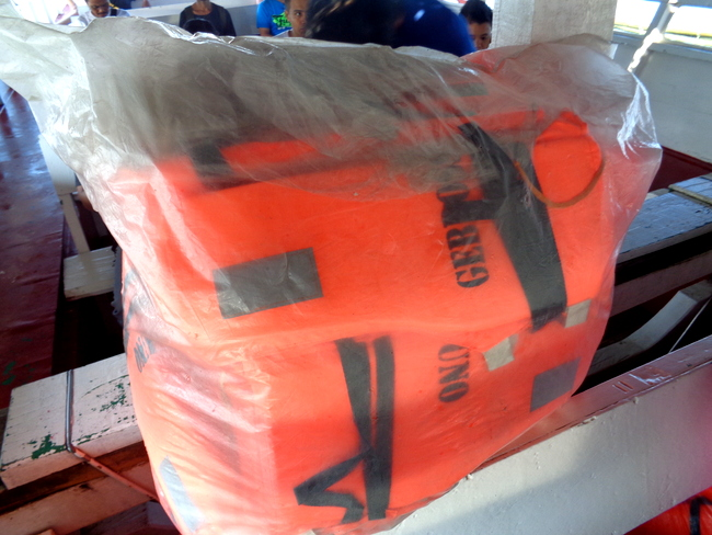life jackets not unpacked on guimaras pump boat