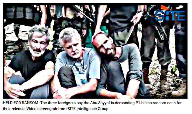 Abu Sayyaf demands billions for foreign hostages