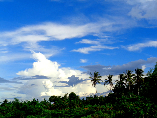 beautiful blue sky over the philippines