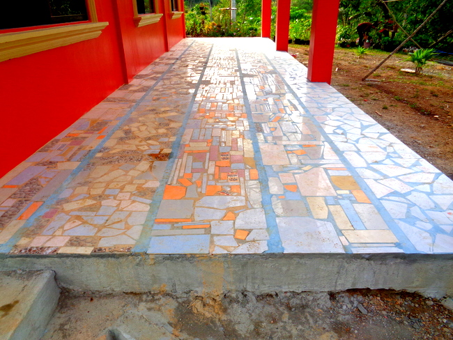 New terrace project at our home in the philippines for Terrace floor tiles