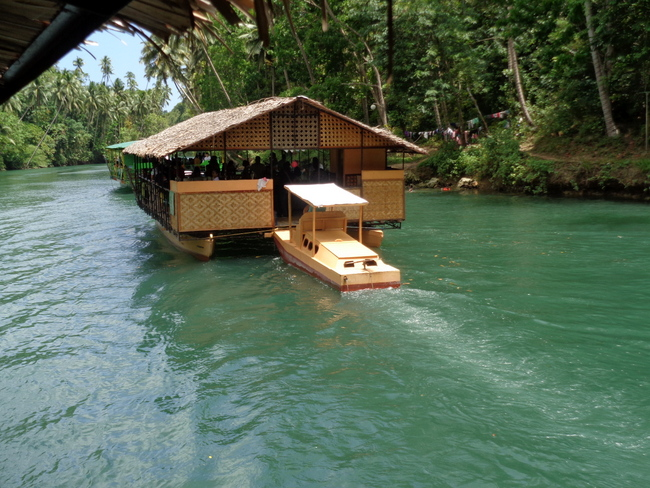 a lazy monday afternoon on the loboc river