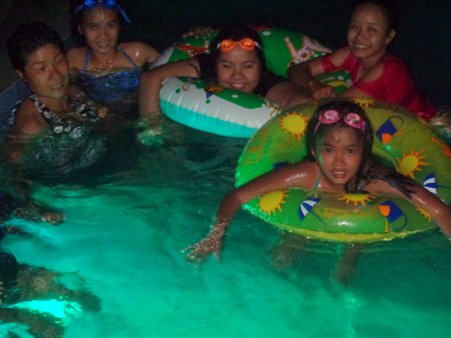swimming at night in the philippines