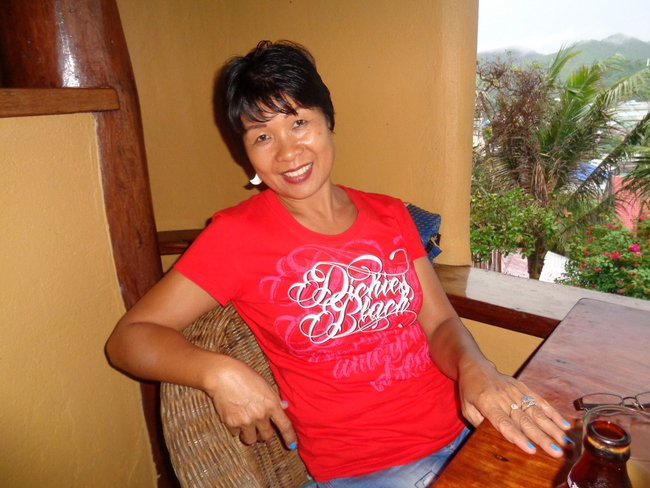 my lovely asawa taking a break at casa rosa resort taytay palawan