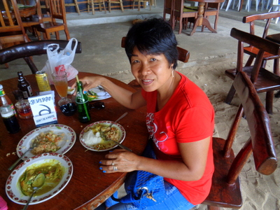 My lovely asawa at Marbers El Nido