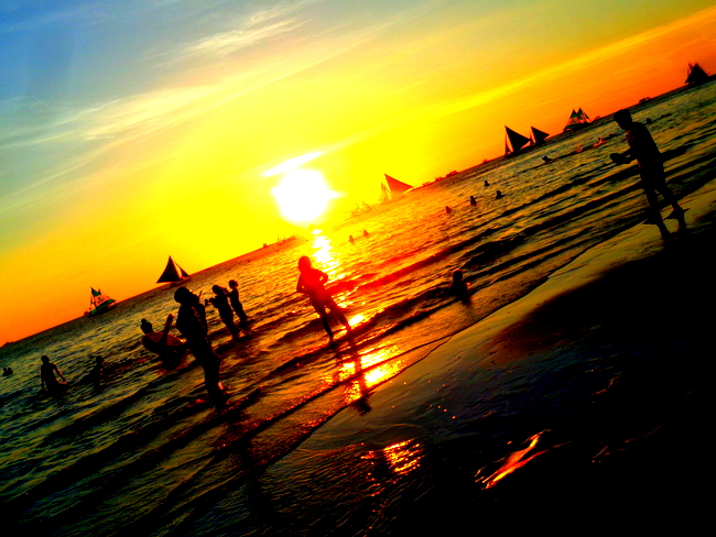 beautiful boracay sunset