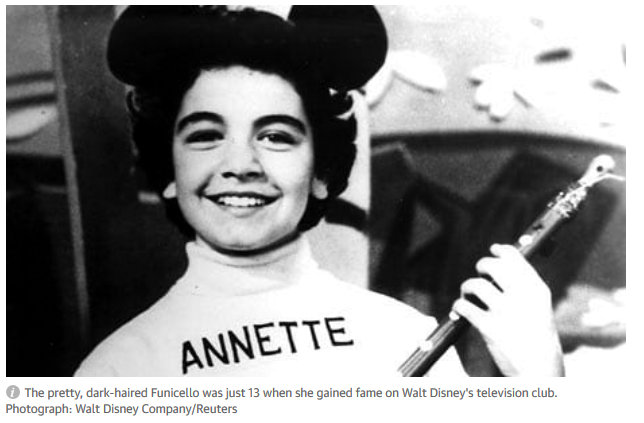 Mouseketeer Annette Funicello