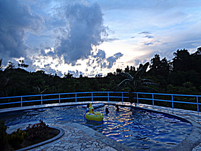 night sky over philippines pool
