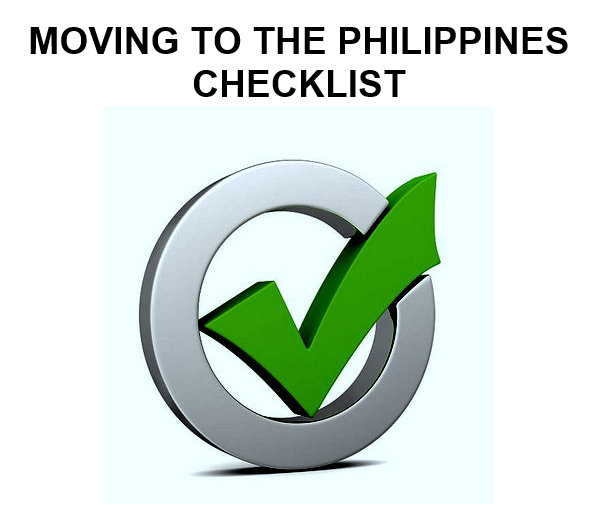 Moving to the Philippnes Checklist