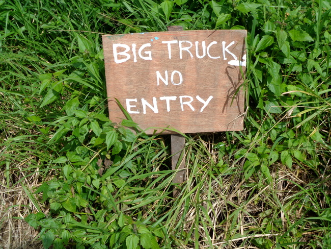Big truck no entry in Guimaras