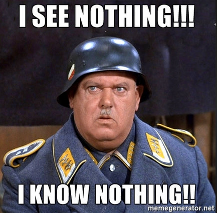 sgt schultz I know nothing