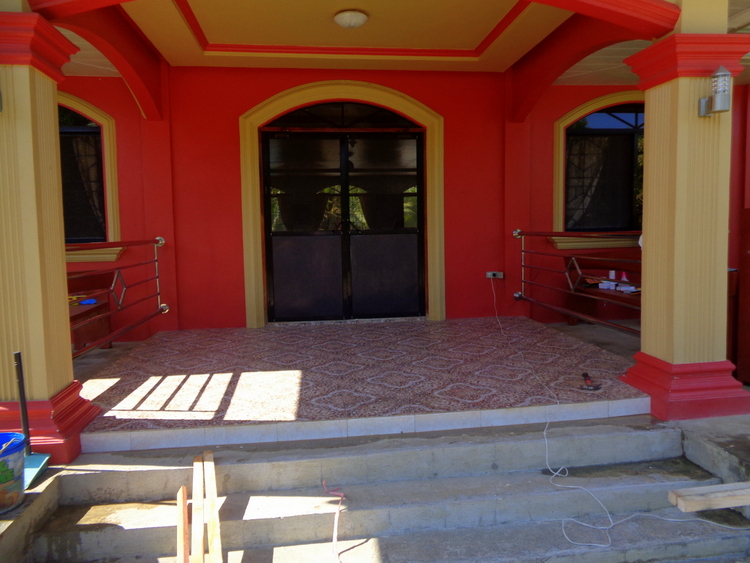 Front porch will hold the Debutante Queen - DenDen's 18 Candles Celebration Preparation