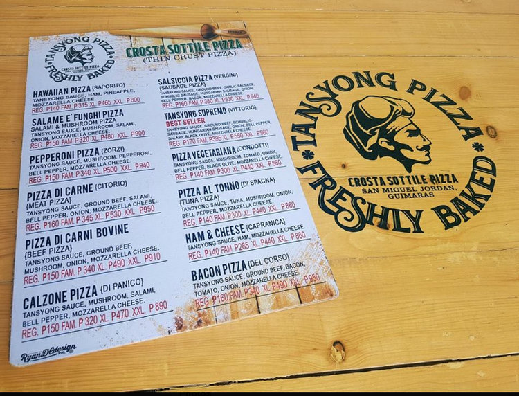 Tansyong Pizza Best Pizza Guimaras - Tansyong, Best Thin-Crust Pizza in Guimaras