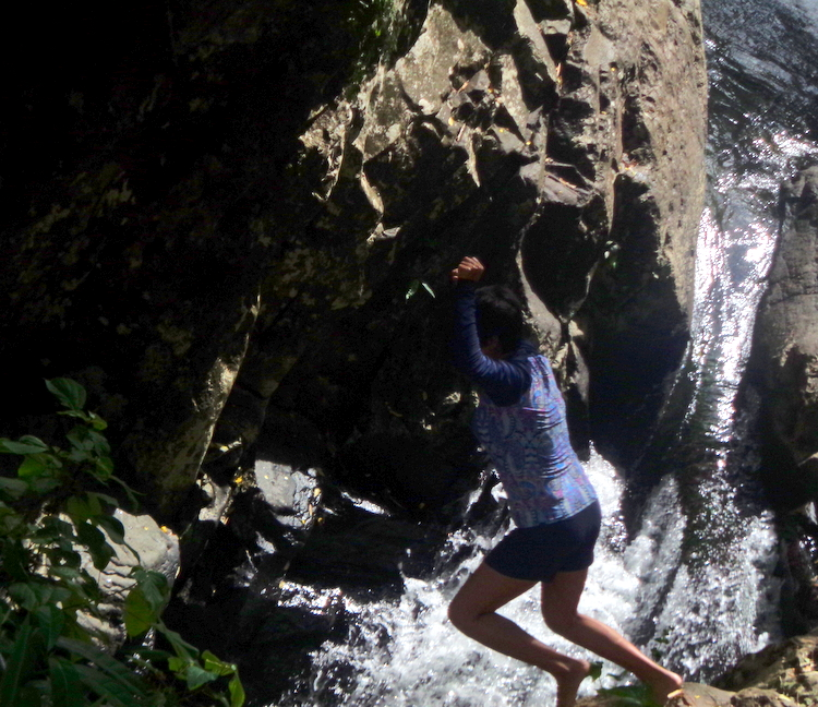 My spouses daring dive waterfall number 6 Mambukal - Mambukal Resort 7th Waterfalls Challenge