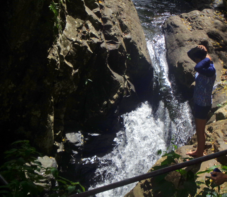 My wifes daring dive waterfall number 6 Mambukal - Mambukal Resort 7th Waterfalls Challenge